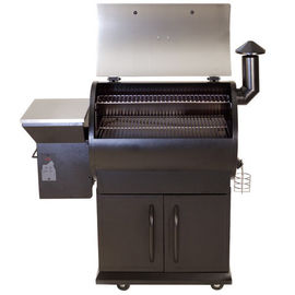 Wooden Fired Electric Wood Chip Grill Powder Coated Stainless Steel body